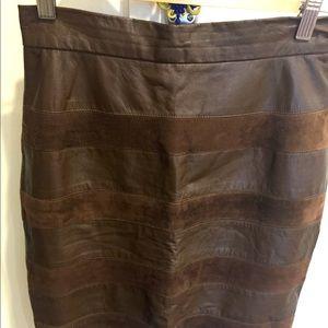 Vintage Leather/suede skirt
